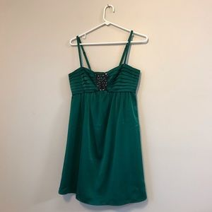 BCBG mini green beaded sexy dress